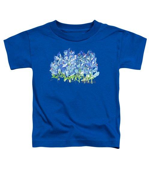 Bluebonnet Dance Watercolor By Kmcelwaine Toddler T-Shirt