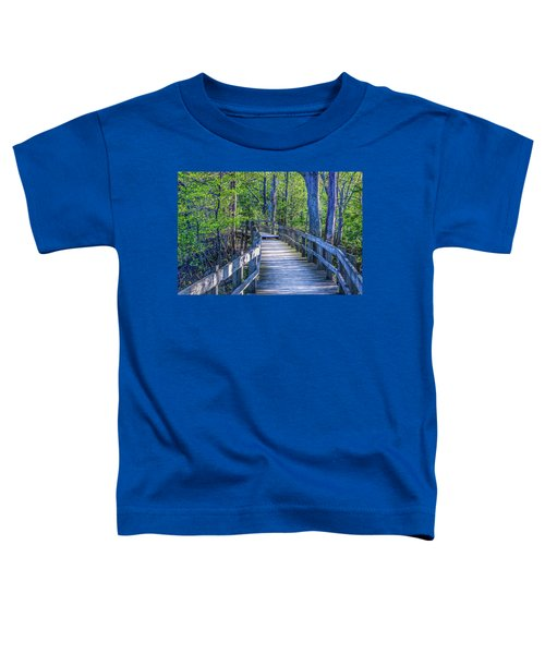 Boardwalk Going Into The Woods Toddler T-Shirt