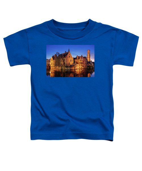 Bruges Architecture At Blue Hour Toddler T-Shirt