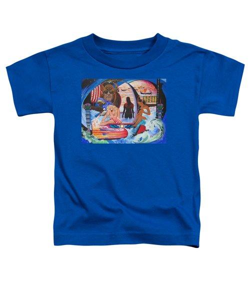 Blaa Kattproduksjoner     Two  Godessess Enjoying  The Nile Spa Toddler T-Shirt