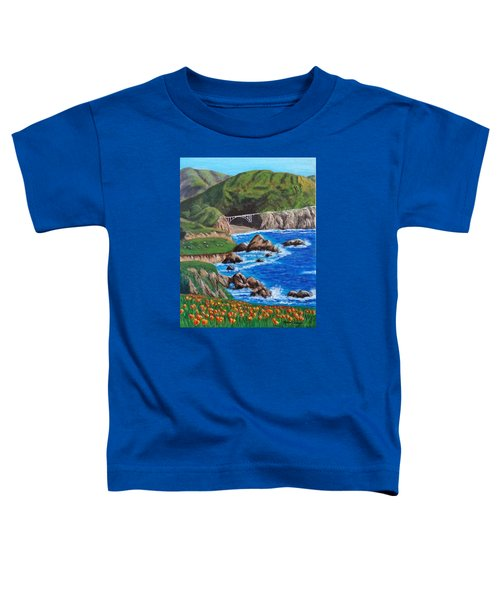 California Coastline Toddler T-Shirt