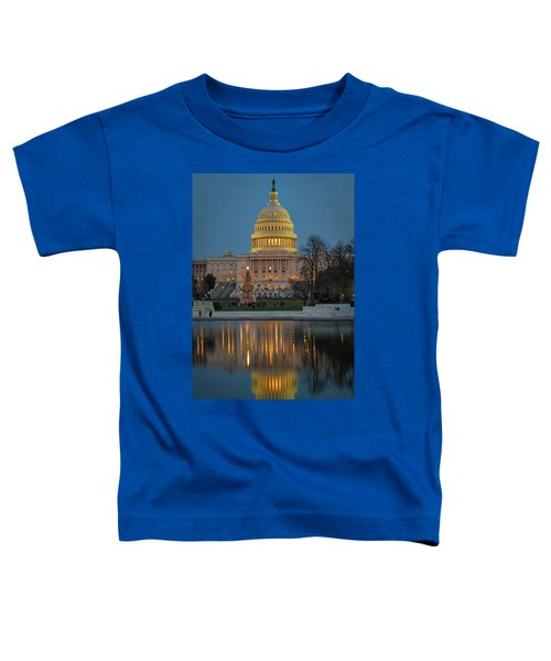 Capitol Reflection At Christmas Toddler T-Shirt