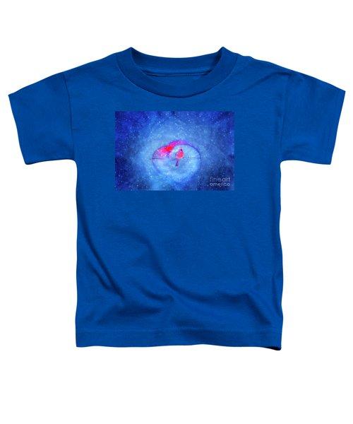 Cardinal In A Heart Toddler T-Shirt