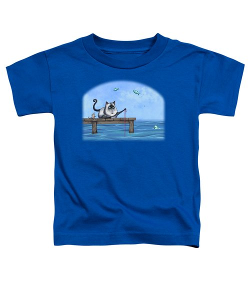 Cat Fish Toddler T-Shirt by Temah Nelson
