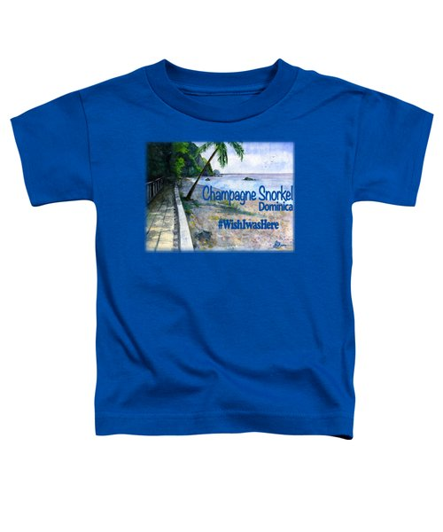 Champagne Snorkel Dominica Shirt Toddler T-Shirt