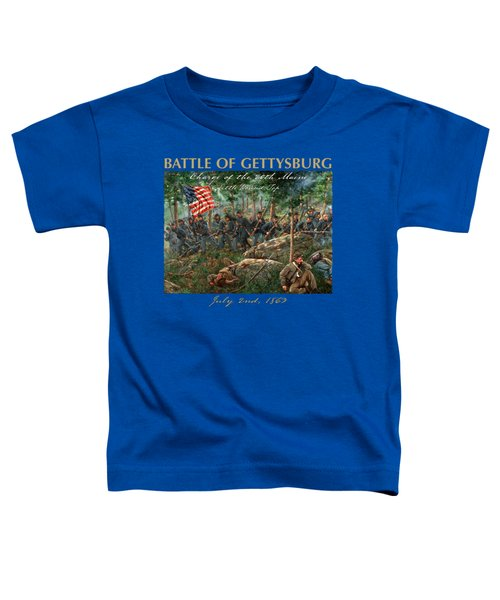 Charge Of The 20th Maine - Joshua L. Chamberlain Leading The 20th Maine Regiment On Little Round Top Toddler T-Shirt