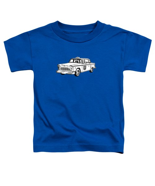 Checkered Taxi Cab Illustrastion Toddler T-Shirt