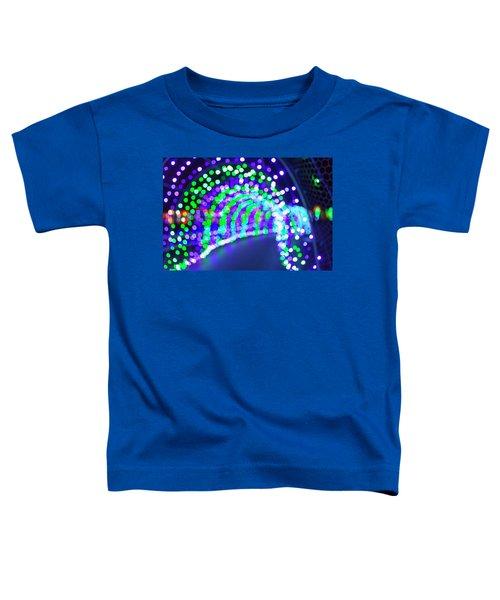 Christmas Lights Decoration Blurred Defocused Bokeh Toddler T-Shirt