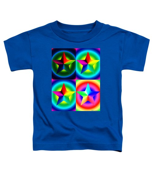 Chromatic Star Quartet With Ring Gradients Toddler T-Shirt