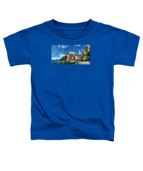 Cinque Terre - View Of Riomaggiore Toddler T-Shirt