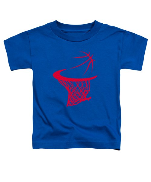 Clippers Basketball Hoop Toddler T-Shirt