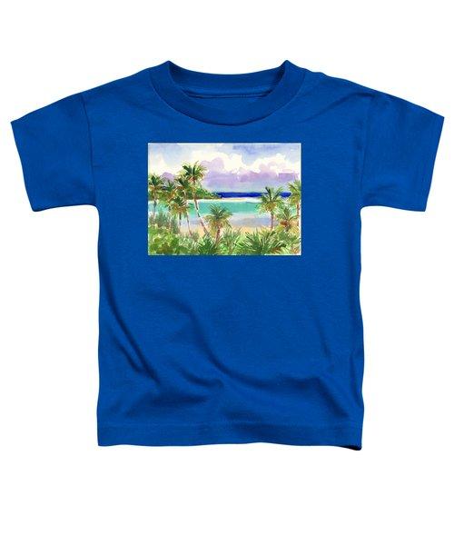 Coconut Palms And Lagoon, Aitutaki Toddler T-Shirt