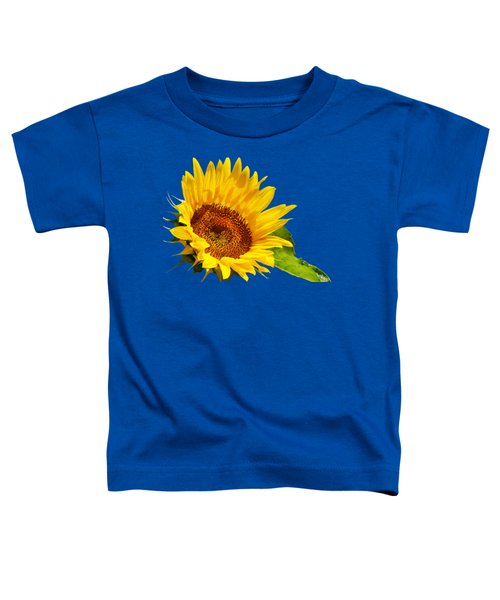 Color Me Happy Sunflower Toddler T-Shirt by Christina Rollo