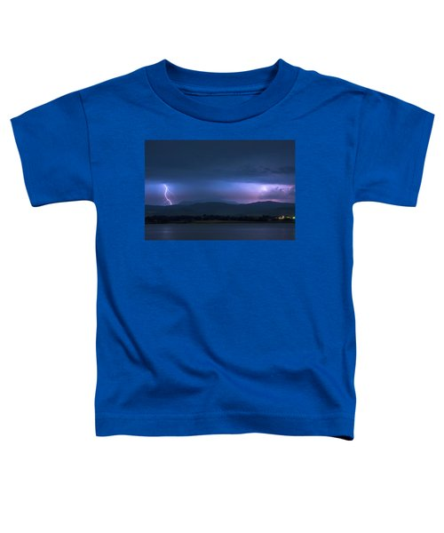 Toddler T-Shirt featuring the photograph Colorado Rocky Mountain Foothills Storm by James BO Insogna
