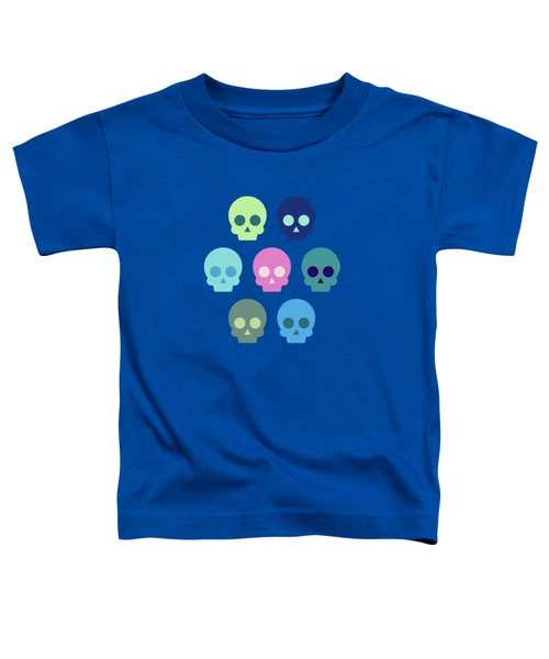 Colorful Skull Cute Pattern Toddler T-Shirt