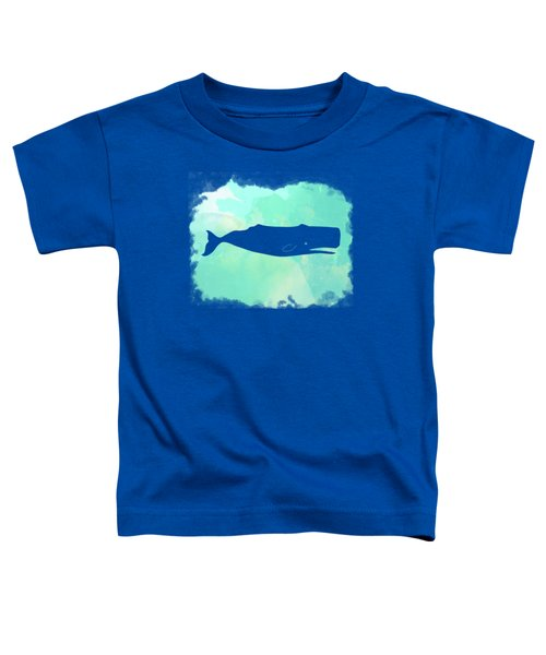 Colorful Watercolor Sperm Whale Sea Life Coastal Art Toddler T-Shirt