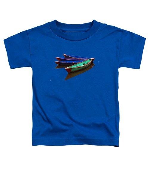 Colourful Fishing Boats  Toddler T-Shirt by Aidan Moran