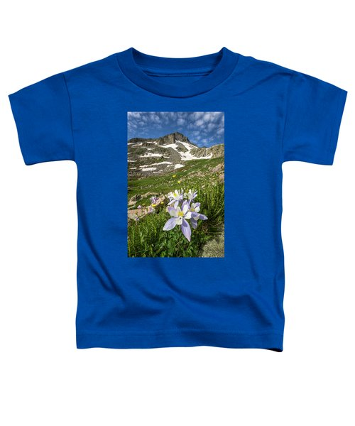 Toddler T-Shirt featuring the photograph Columbine Flowers by Whit Richardson