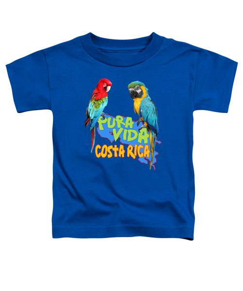 Costa Rican Macaws Toddler T-Shirt by Linda Bissett