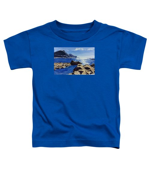 Toddler T-Shirt featuring the painting Crackington Haven Sparkle by Lawrence Dyer
