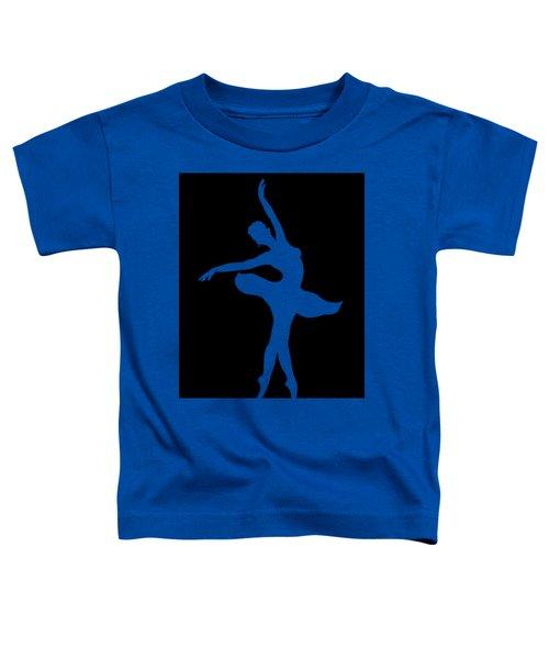 Dancing Ballerina White Silhouette Toddler T-Shirt