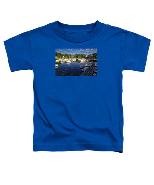 Dawn At Perkins Cove - Maine Toddler T-Shirt