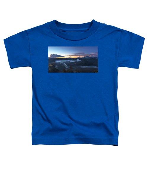 Dawn Breaking Scene Of Mt Bromo Toddler T-Shirt