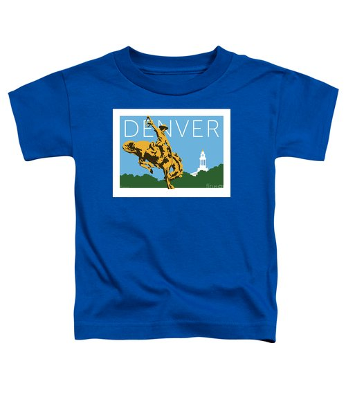 Denver Cowboy/sky Blue Toddler T-Shirt
