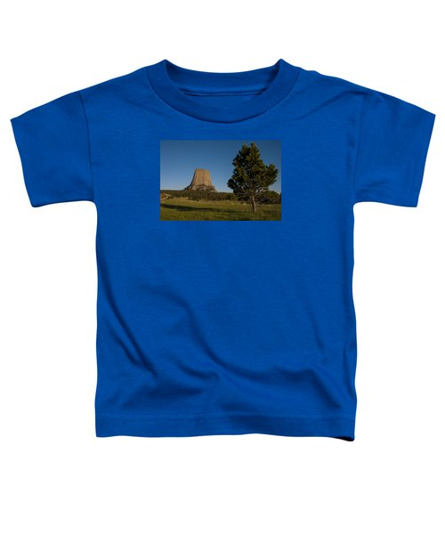 Toddler T-Shirt featuring the photograph Devil's Tower by Gary Lengyel