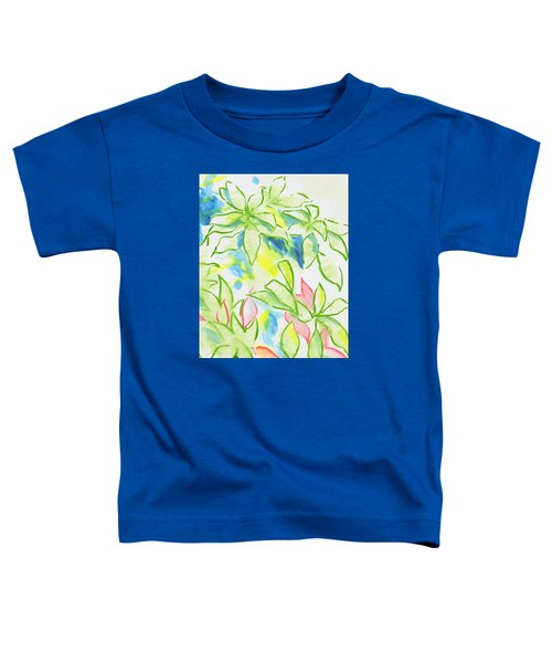 Different Coloured Hydrangea Leaves - Green Red Yellow Toddler T-Shirt