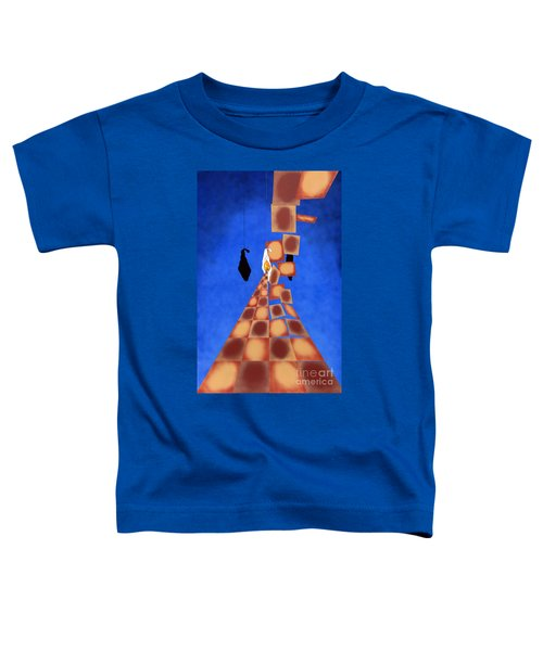 Disrupted Egg Path On Blue Toddler T-Shirt
