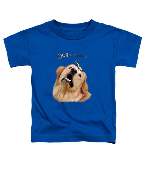Dog And Butterfly Toddler T-Shirt by Christina Rollo