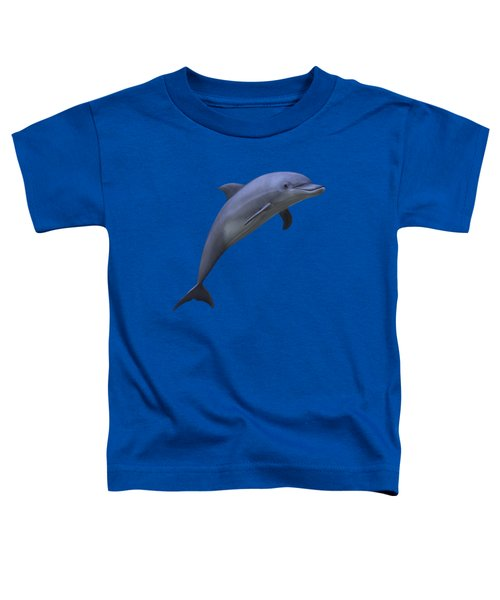 Dolphin In Ocean Blue Toddler T-Shirt by Movie Poster Prints