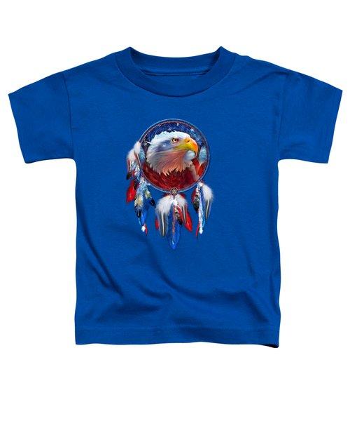 Dream Catcher - Eagle Red White Blue Toddler T-Shirt