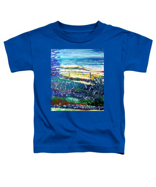 Toddler T-Shirt featuring the painting Dune Grasses by Winsome Gunning