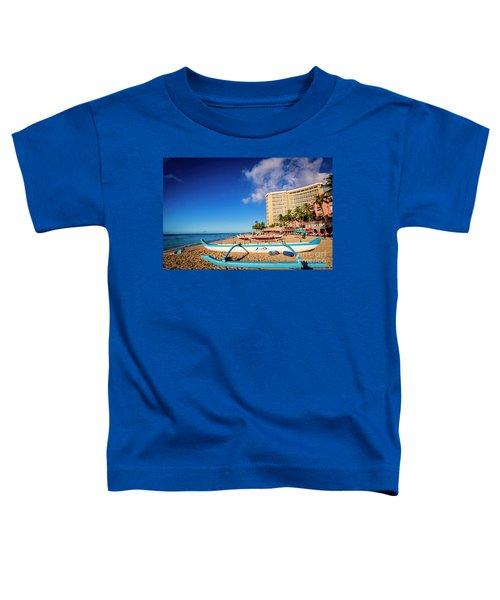 Early Morning At Outrigger Beach,hawaii Toddler T-Shirt