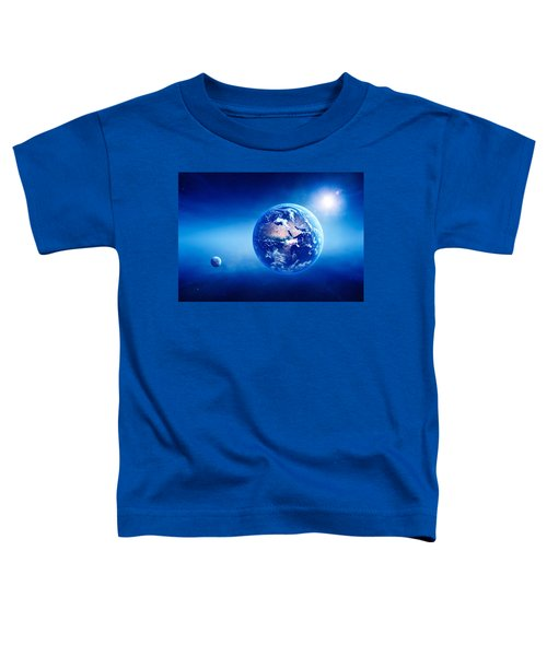 Earth Sunrise Deep Space Toddler T-Shirt