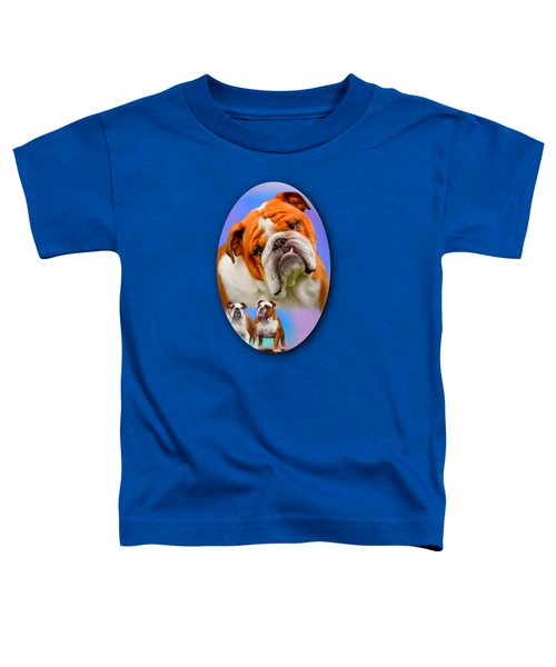 English Bulldog- No Border Toddler T-Shirt