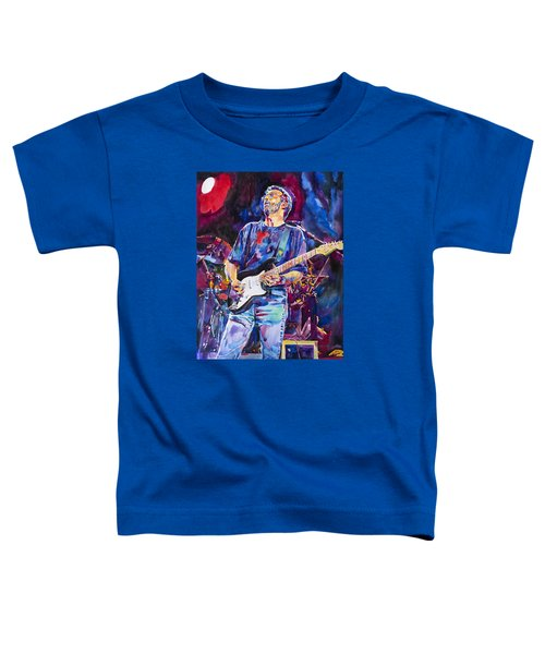 Eric Clapton And Blackie Toddler T-Shirt by David Lloyd Glover