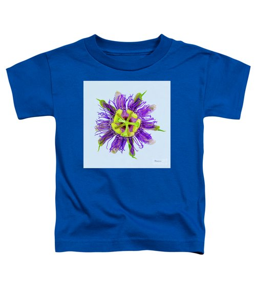 Expressive Yellow Green And Violet Passion Flower 50674b Toddler T-Shirt