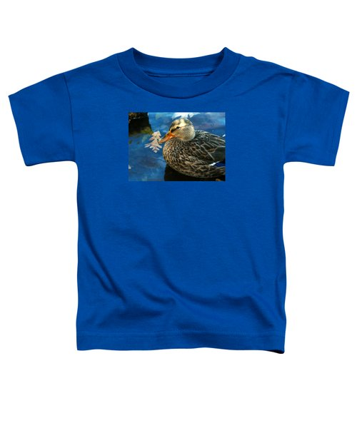 Female Mallard Duck In The Fox River Toddler T-Shirt