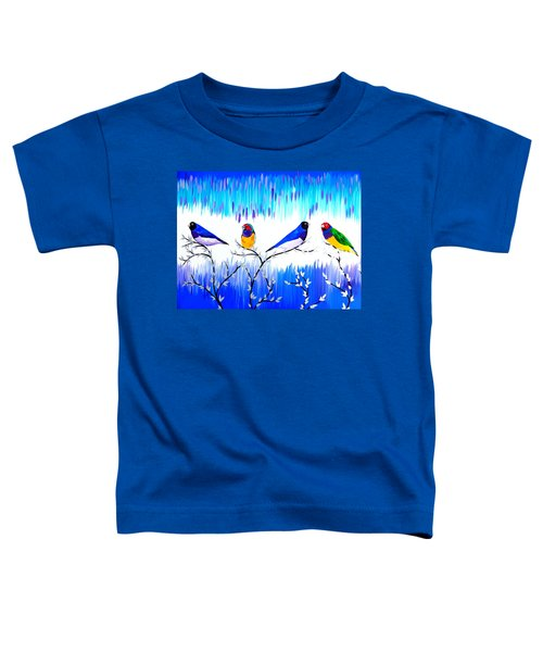 Finches Toddler T-Shirt by Cathy Jacobs