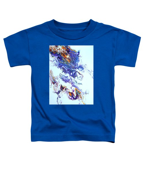 Toddler T-Shirt featuring the painting Fire Ball by Joanne Smoley