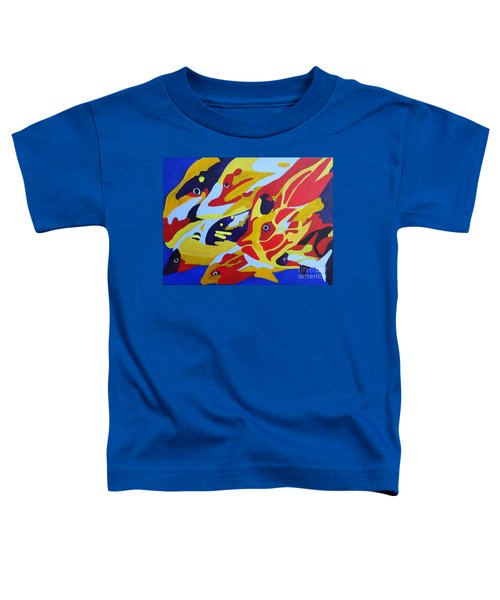 Fish Shoal Abstract 2 Toddler T-Shirt