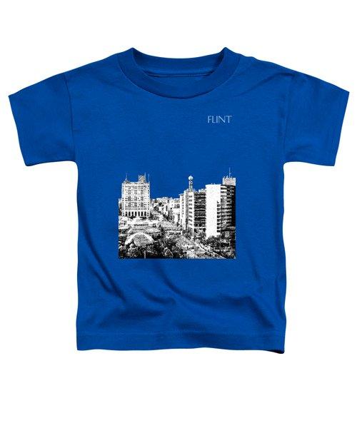 Flint Michigan Skyline - Aqua Toddler T-Shirt