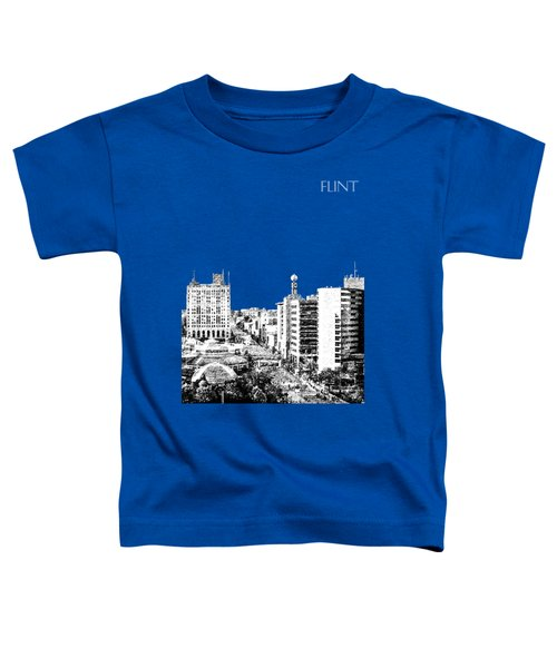 Flint Michigan Skyline - Aqua Toddler T-Shirt