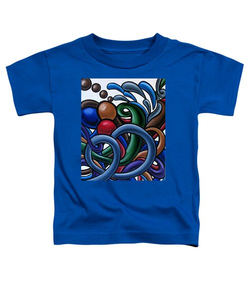 Colorful Abstract Art Painting Chromatic Water Artwork Toddler T-Shirt