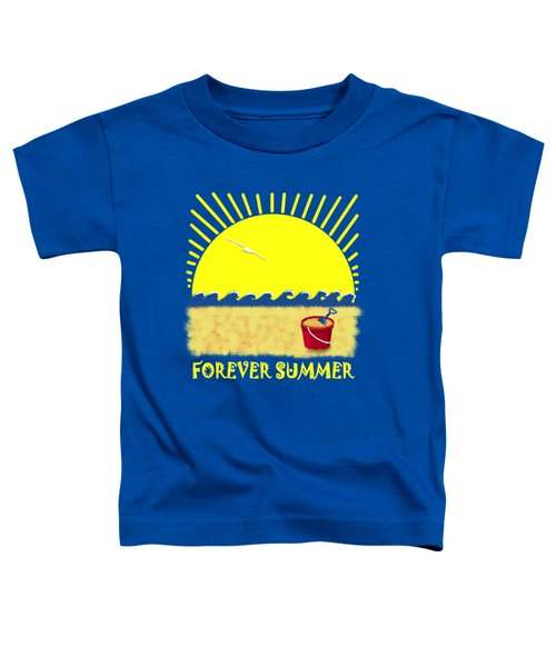 Toddler T-Shirt featuring the digital art Forever Summer 8 by Linda Lees