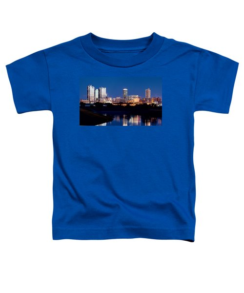 Fort Worth Skyline At Night Poster Toddler T-Shirt