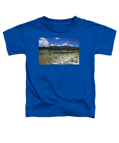 Fresh Snow Along The Banks Of Crystal Creek Reservoir With Pikes Toddler T-Shirt